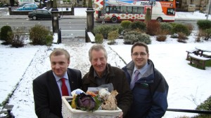 Pictured: Jim McLaren, NFUS President, David Lacey from the Good Food Programme, James Withers NFUS Chief Executive.