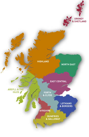 Online Directory Map of Scotland